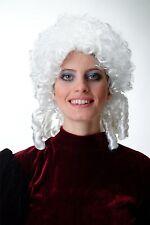 Perücke Herren Damen Karneval Halloween Barock Renaissance Locken weiß Zöpfe