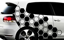 Hexagon Pixel Cyber Camouflage XXL Set Auto Aufkleber Sticker Tuning Wandtattooq