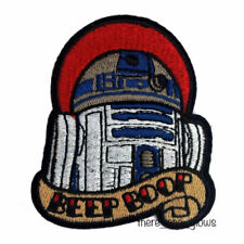 *Beep Boop* Star Wars R2D2 Tattoo style Iron On Embroidered Patch (Artoo, badge)