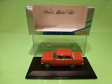 MINICHAMPS 43002 OPEL KADETT A  1962-1965 - RED 1:43 - GOOD IN BOX