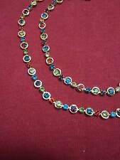 New Fancy Design anklet (payal) in MULTICOLOR STONE WITH GOLDEN ANKLET