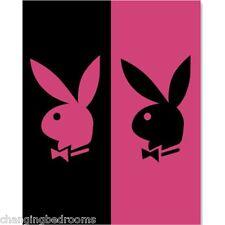 Oficiales playboy Twin Bunny Negro Fucsia 100% Algodón Terciopelo Xl Jumbo Toalla De Playa