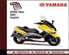 Yamaha Xp500 Xp 500 Tmax 2005 servicio de Taller reparación Manual
