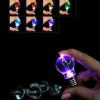 Cute Mini Colorful Light Bulb Lamp LED Flashlight Key Ring Keychain Lamp Torch