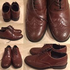 Dexter Comfort Casual Dress Shoes Brown Lace Up's Wing Tip Size 8
