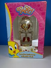 Tweety Porcelain Anniversary Collectible Clock Looney Tunes