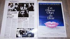 luis bunuel CET OBSUR OBJET DU DESIR ! affiches cinema vintage 1977 + promo rare