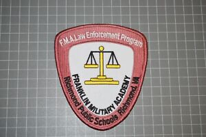 F.M.A. Law Enforcement Program Franklin Military Academy Patch (B17-A5)