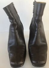 """Tommy Hilfiger Ankle boots brown leather size 7.5M 3.5"""" Heel"""