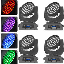 36x10W Rgbw (4in1) Led Zoom Moving Head 360W Wash Stage Light Dmx 16Ch Party 4Pc