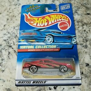 2000 Hot Wheels Monte Carlo Concept Car Pink #109 HW Virtual Collection