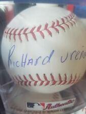 richard urena signed baseball autographed romlb ball auto full name sig jays mlb
