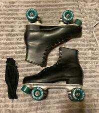 Vintage Roller Derby Black Mens Roller Skates Skating Size 10 Antique