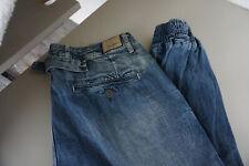 Pepe Jeans Persian Crop Détendu Boyfriend Baggy Harem Pantalon W32 L32 Bleu Neuf