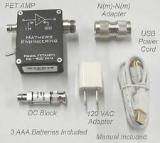 High-Z Spectrum Analyzer Amplifier, 1MOhm, 4pF, FETAMP1