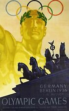 More details for 1936 berlin olympics vintage poster reprint
