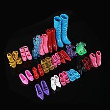 Exquisite 12 Paare kreative Kombination BARBIE SCHUHE Babi Ba Puppe Schuhe 1A BG
