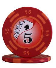 50pcs 14g Yin Yang Casino Table Clay Poker Chips $5