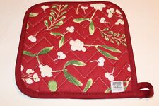 NOW DESIGNS Potholder Hot Pad MISTLETOE Collection NWT 100% Cotton Holiday Red