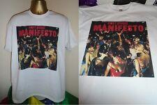 ROXY MUSIC - MANIFESTO - 1979 ALBUM ART PRINT T SHIRT- WHITE - MEDIUM