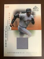 2001 SP Game Used Edition Authentic Fabric #BB Barry Bonds Jersey