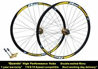 700c Hybrid Bike Bicycle 8/9/10 Speed Front Rear Disc QR Wheel Set Quando Hubs