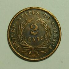 2 cent coin 1868 United States of America