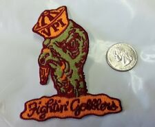 VT VPI Virginia Tech Hokies Vintage Embroidered Iron On Patch 3.5x 2.75 GOBBLERS
