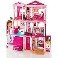 New Mattel Barbie Dream House Doll 3 Story Furniture Girls Play