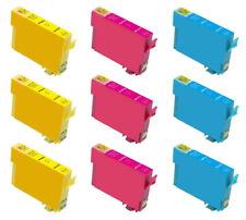 9  DRUCKERPATRONEN C/M/Y für Epson Expression Home XP 422 / XP 425