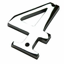 """4"""" Inch Chrome #4 House Numbers Home Address Wholesale Number Door Sign Hardware"""