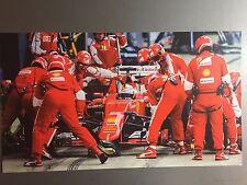 """Sebastian Vettel Flag Banner 25/"""" NEW 2018 Ferrari Formula 1 F1 Fabric Poster #6"""