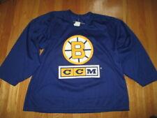 Vintage CCM Maska BOSTON BRUINS (Men's LG) Hockey Jersey BLUE