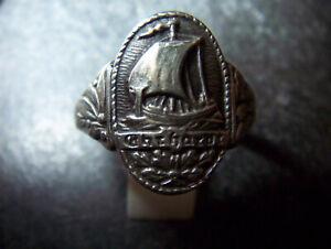 Patriotischer-Ring-Freikorps-Ehrhardt-900er-Silber-Lorber-Eichen- Drachenboot