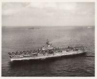 USS WASP (CV-18) ~ AIRCRAFT CARRIER ~ OKINAWA - AUGUST 6 1945