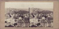 Genova Italia Foto Stereo Vintage Albume D'Uovo Ca 1860