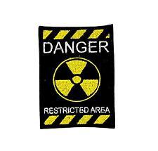 patch emblem restricted area 51 jacket bag backpack zombie warning biker airsoft