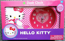 HELLO KITTY DESK CLOCK FOR AGES 8+ NEW SANRIO