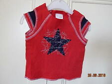 LADYBIRD BABY BOYS RED STAR TOP SIZE 18-24 MONTHS 100% COTTON