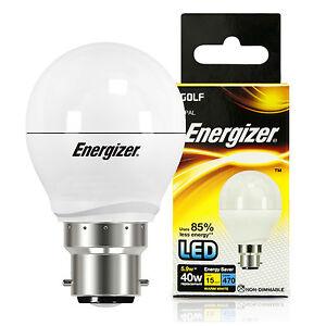10x Energizer 5.9w=40w LED Golf Ball BC B22 Bayonet Cap Energy Saving Light Bulb