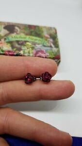 Earrings Lovely Michal NEGRIN Swarovski Crystals  flowers made in Israel  8501