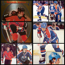 Lot of 8 Wayne Gretzky Oilers 1983-84 O-Pee-Chee 83-84 NHL Hockey Stickers