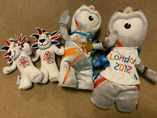 Wenlock and Lions London 2012 Olympic Mascots Teddy & Backpack