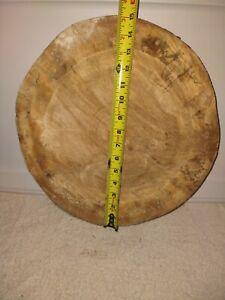 Live Edge Spalted Cottonwood Cookie Round Wood Slab Figured Rustic Natural Edge