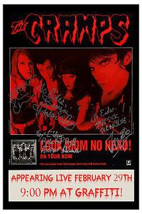 PUNK: The Cramps *  Live * at Graffiti Club  Concert Poster 1992   12x18
