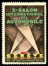 Switzerland Poster Stamp - 1933 Automobile Exhibition, Geneva - Henri Fehr