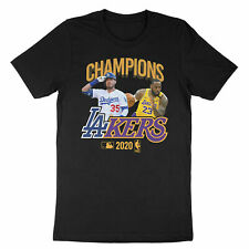 Los Angeles Dodgers Lakers 2020 World Champions LeBron Cody Bellinger T-Shirt