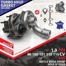 Turbo NEUF VW GOLF IV 1.9 TDI 4motion -85 Kw 115 Cv 713672-6 AVEC JOINTS GASKET