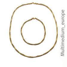 Halskette und Armband Armkette Pierre Lang stark vergoldet necklace gold plated