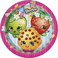 "8 Shopkins Children's Birthday Party 9"" Round Paper Lunch Plates"